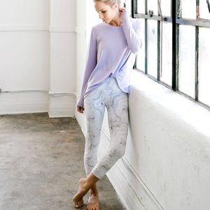 DYI Grey Marble Signature Crop Legging